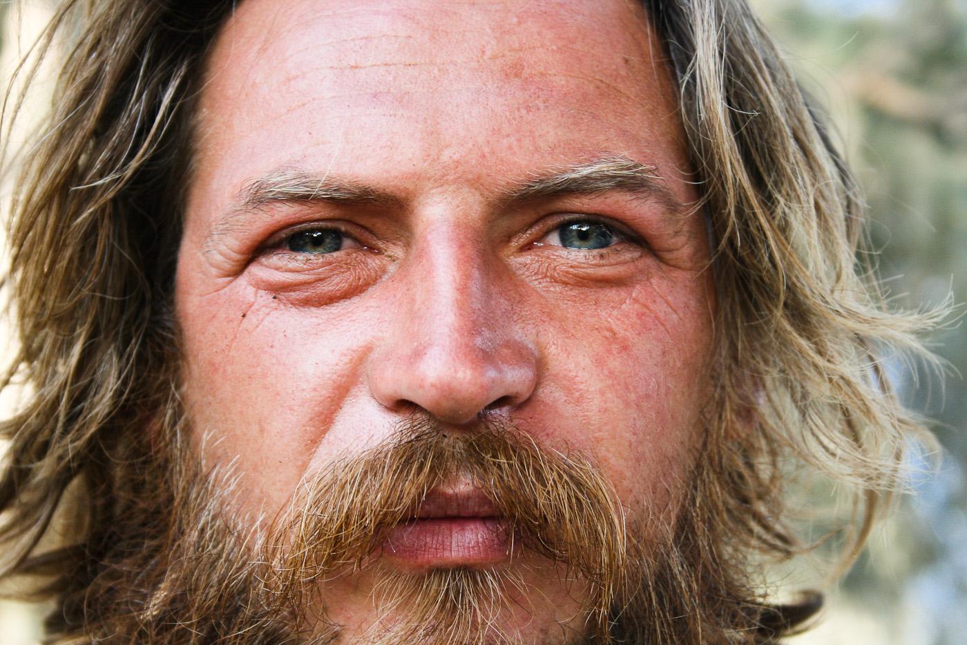 My caveman friend in Matala (Greece)
