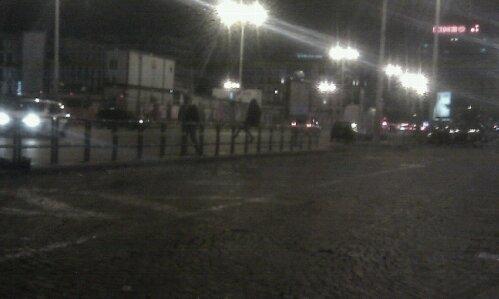Inquietudine notturna a piazza Garibaldi
